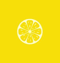 Lemon fruit logo vector