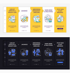 Liver dysfunction hints onboarding template vector