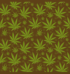 Marijuana seamless pattern cannabis is an endless vector