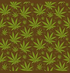 marijuana seamless pattern cannabis is an endless vector image