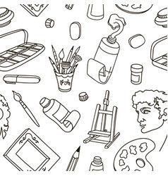 material artist drawing art painting sculpture vector image