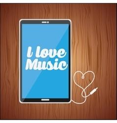 mobile audio design vector image