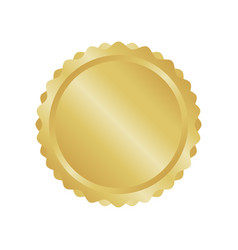 modern gold circle metal badge label and design vector image