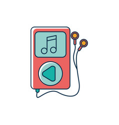 Mp3 earphones note device melody sound music line vector