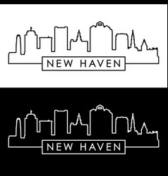 new haven skyline linear style editable file vector image
