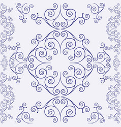 ornamental seamless vintage pattern vector image