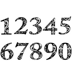 pattern numbers vector image