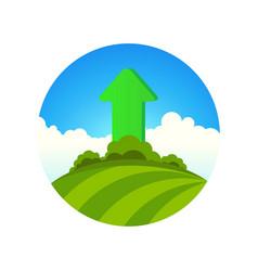 Planting greenery vector