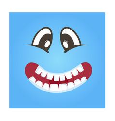 Playful smiley face icon vector