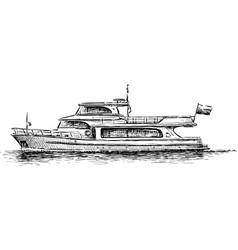 Pleasure boat vector