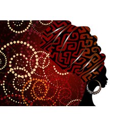 Portrait beautiful african woman template vector