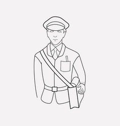 postman icon line element of vector image