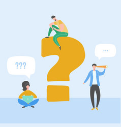 Question and answer concept people vector