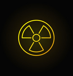 radiation linear yellow icon vector image