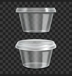 realistic 3d detailed container sour cream sauce vector image
