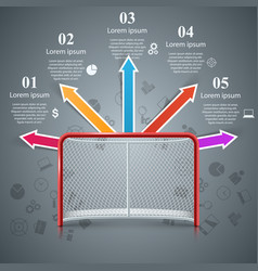 realistic hockey gates - business infographics vector image