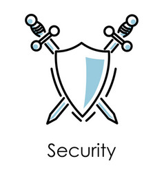 safe mining and data base protection security vector image