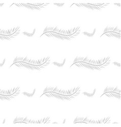 Seamless of feather canvas pattern art background vector