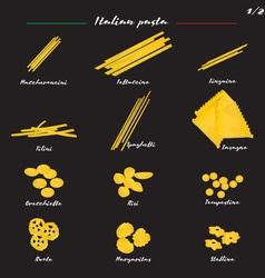 Set italian pasta one vector
