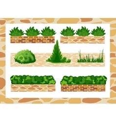Set of elements for landscape decor vector
