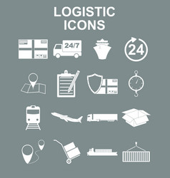 Simple logistics icons set vector