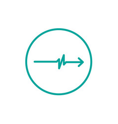 simple pulse with arrow circle logo template vector image