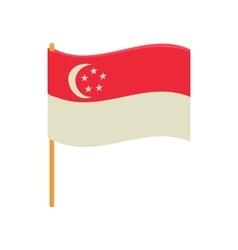 Singapore flag icon cartoon style vector