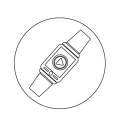 smartwatch wearable icon design vector image