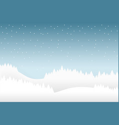 snow and winter season background with forest vector image