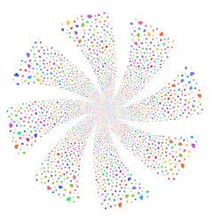 Space ship fireworks swirl flower vector