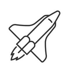Space shuttle line icon vector image