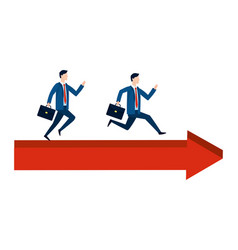 successful businessmen avatar cartoon vector image