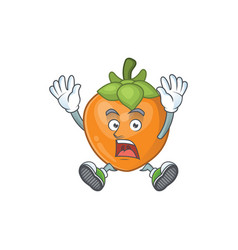 Successful persimmon cartoon character isolated vector