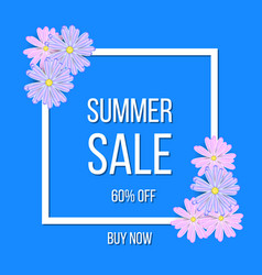 summer sale poster frame background vector image