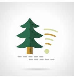 Technology in forest flat color design icon vector image