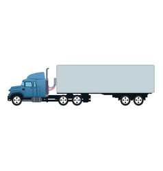 Truck container transport delivery commerce vector