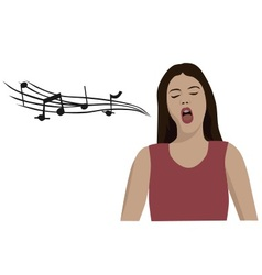 Woman singing opera vector
