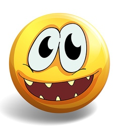 Yellow ball with happy face vector