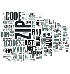 zip codes text word cloud concept vector image
