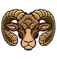 aries head logo vector image vector image