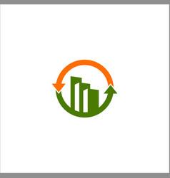 business finance building logo vector image