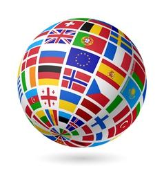 European flags globe vector image