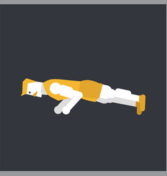 man doing push up vector image