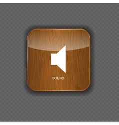 Music wood application icons vector image vector image