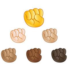 raised fist hand emoji vector image