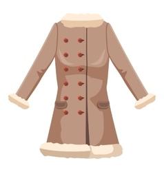 Sheepskin jacket icon cartoon style vector image vector image