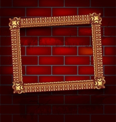 Frame on the brick wall vector image