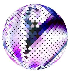 scaled ball vector image vector image