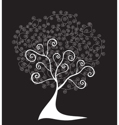 abstract floral tree vector image vector image