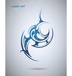Abstract tribal design vector image vector image